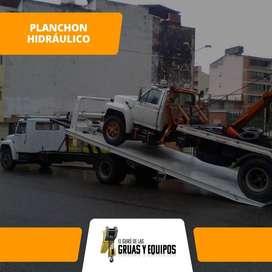 ALQUILER DE PLACHON HIDRAULICO