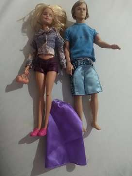 Barbie y Kent originales de Mattel