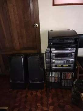 Equipo de sonido súper bass con phono y cd... Colecciónes