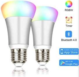 Bombilla LED inteligente (2) unidades  - LED Luz 16 Millones Cambio de Color 5W 2 Pack