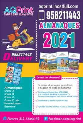ALMANAQUES Y CALENDARIOS NAVARRETE 2021 - Arequipa