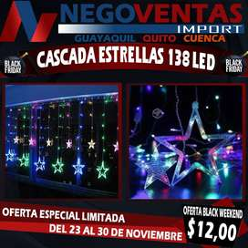 CASCADAS ESTRELLA 138 LED EXCLUSIVAMENTE EN TOTAL DESCUENTO HASTA ESTE MES