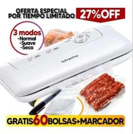Maquina Empacadora Semi-comercial Para Empacar/Sellar Al Vacio + Bolsas (Bifrecho)