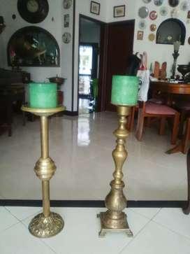 Candelabros en bronce, antiguos