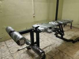 Rack para sentadillas y pecho + Banco multifuncional para femorales, cuadriceps y biceps TODO NUEVO