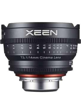 Lente Xeen 14mm T3.1 Professional Cine Lens Para Canon Muy Poco Uso Ganga