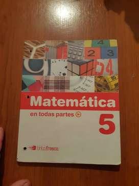libro primario  matematica 5°  en todas  partes  edit tinta fresca
