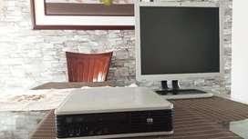 Computador De Mesa Hp Compaq Intel + Monitor + Regalo