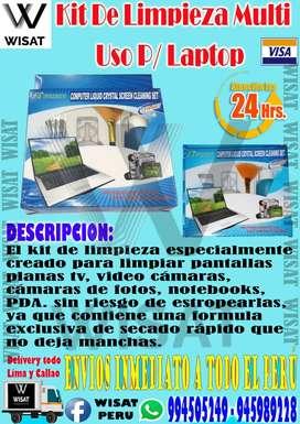 Kit De Limpieza Multi Uso para Laptop, monitores y tv Lcd