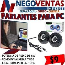 PARLANTES PARA PC O LAPTOP SUPER OFERTA UNICA DE NEGOVENTAS