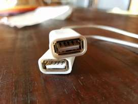 Adaptador para iPhone. USB y iPhone conector