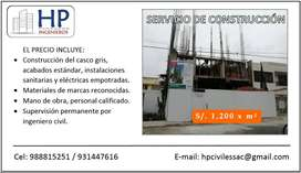 SERVICIO DE CONSTRUCCIÓN DE CASAS