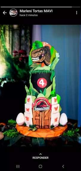 Maqueta torta dinosaurio