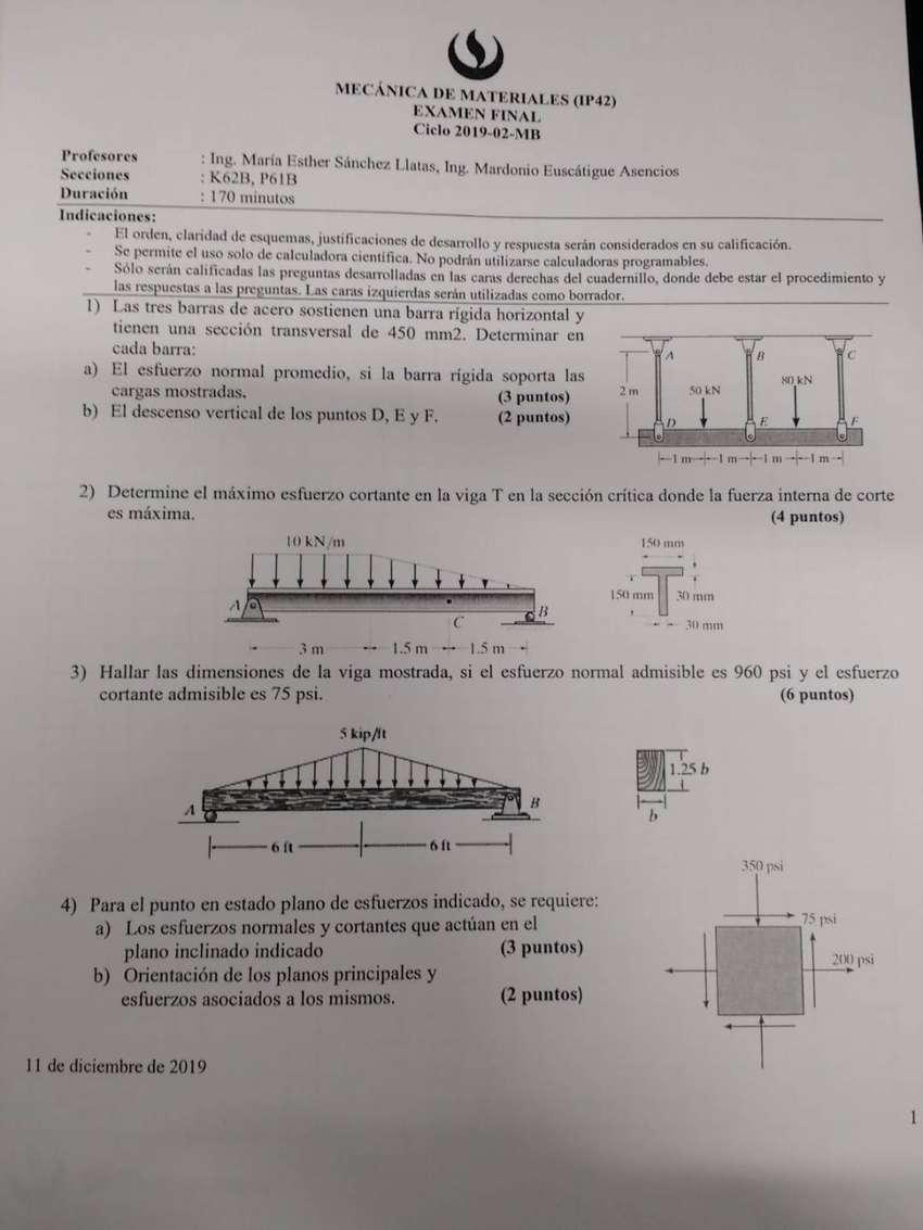 PROFESOR DE ESTATICA, RESISTENCIA DE MATERIALES, MECANICA DE FLUIDOS, ANALISIS ESTRUCTURAL,DINAMICA, CONCRETO ARMADO 0