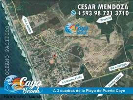 VENTA DE TERRENOS EN LA PLAYA, UBICADOS A 30 MIN DE PUERTO LOPEZ, LOTIZACION PRIVADA CAYO BEACH, SOLO DE CONTADO, S1
