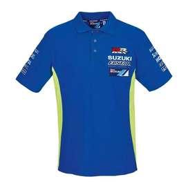Camisa Polo Oficial Suzuki Ecstar MOTO GP talla s