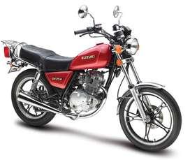 Vendo moto zuzuki gn 125 usada modelo 2014