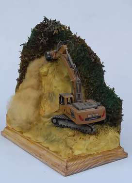 Vendo escavadora escala diorama