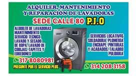 Alquiler de lavadoras sede calle 80 PJO