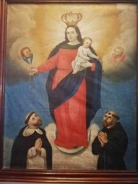 Cuadro Virgen del Rosario, inicios del siglo XX