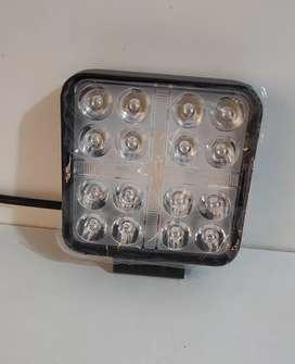 Luz Led cuadrada 2 funciones blanco y amarillo fijo y flash 96w