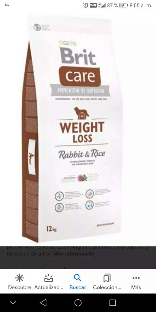 Comida Brit care rabbit & rice de 12kg
