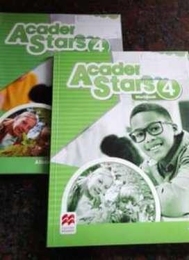 Libros Inglés Academy Stars 4. Puli's book y Workbook! Como nuevos! Impecables!