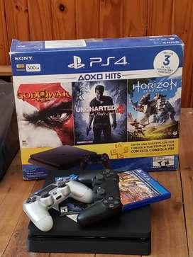 Vendo PlayStation 4 + 2 joysticks DualShock + 4 juegos