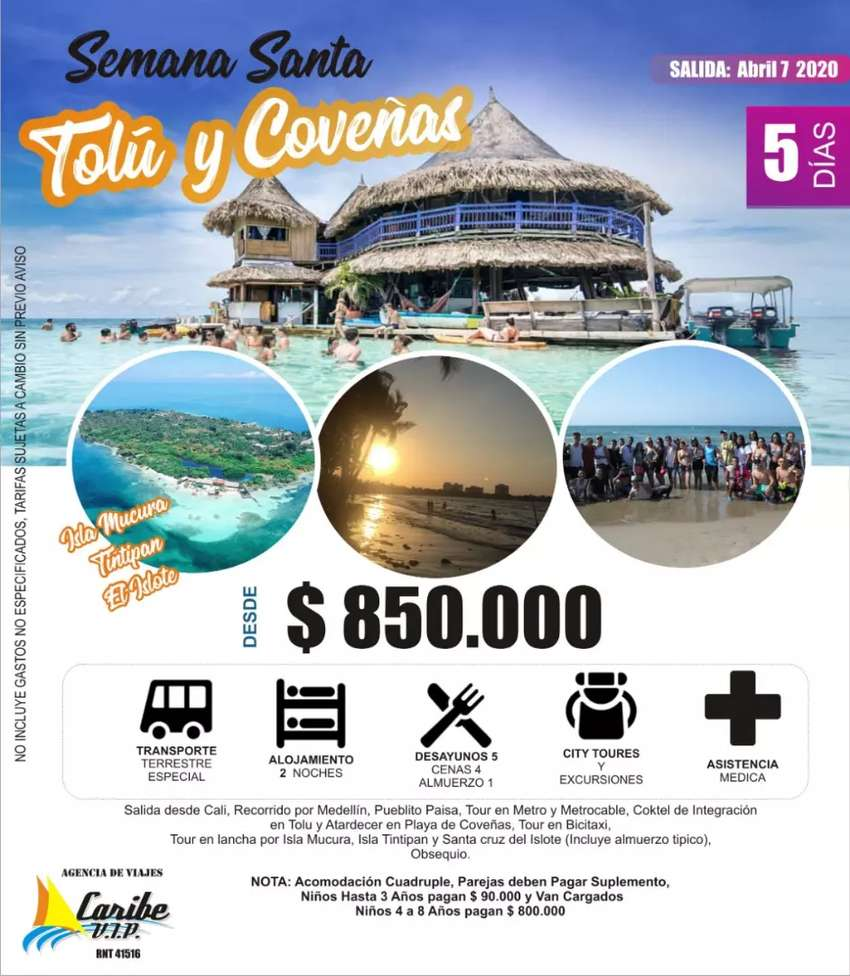 Excursion Costa Atlantica SEMANA SANTA Tolu Coveñas 0