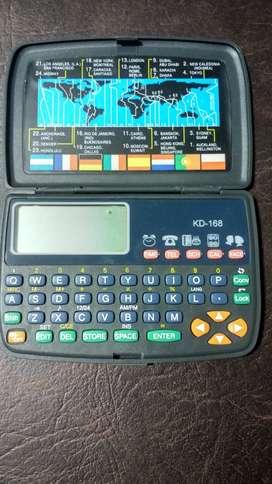 Calculadora agenda electrónica Databank Nueva. 1800