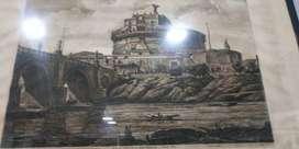 Cuadro Veduta Della Gran Mole Adriana, E Ponte Elio 1821