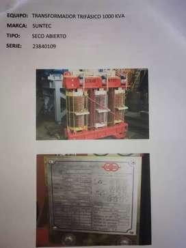 TRANSFORMADOR TRIFÁSICO 1000kva MARCA SUNTEC SECO ABIERTOSERIE23840109