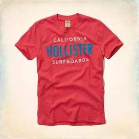 Polos Hollister River Jetties Rojo - Turquesa Talla M - EEUU