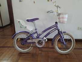 Bicicleta de mujer, rodado 16, marca olmo