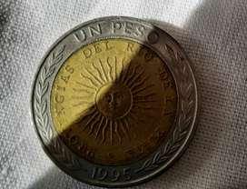 Vendo moneda de un peso argentino con falla