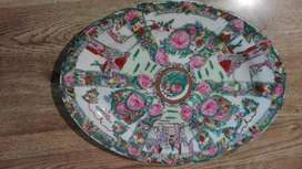 Fuente Floreada Ceramica