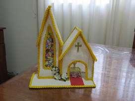 Adorno capilla para torta de comunión