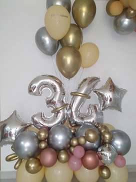 •Bouquet de Globos para Cumpleaños• - •Servicio de Decoración a Domicilio•