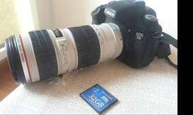 Espectacular Canon 7D con lente Canon 70-200mm