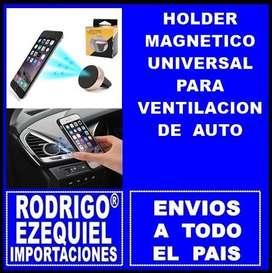HOLDER MAGNETICO IMANTADO PARA AUTO IDEAL CELULARES