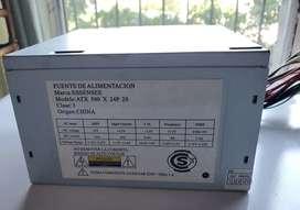 Fuente de alimentación essenses atx 500 x 24p 2 s no funciona