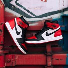 Botas Nike Jordan 1 Rojo Negro Blanco Cuero Envio Gratis
