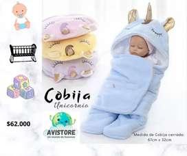 Cobija unicornio para bebé
