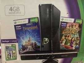 Xbox360 con 2 controles y kinect