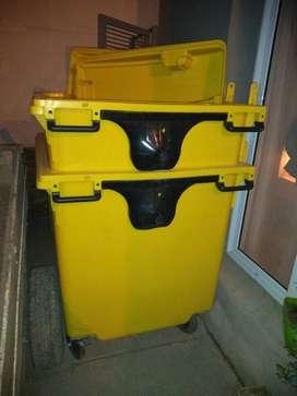 Contenedor 1000 lts. Residuos o varios usos color amarillo