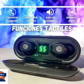 Audífonos Inalámbricos Bluetooth F9 V5.1 Powerbank Táctiles 3 en 1