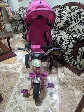 Triciclo musical paseador convertible