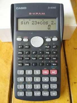 Calculadora casio fx 82 Ms cientifica funciones trigonometricas exponenciales logaritmicas