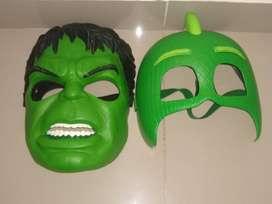 Mascaras Hulk y Geko (PJ Masks)