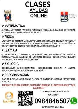 CLASES MATEMATICA FISICA QUIMICA INGLES SER BACHILLER A DOMICILIO